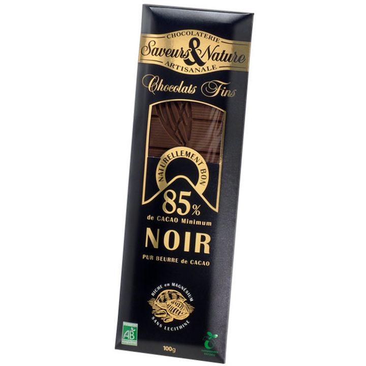 Био шоколад черен 85% какао Мадагаскар 100г