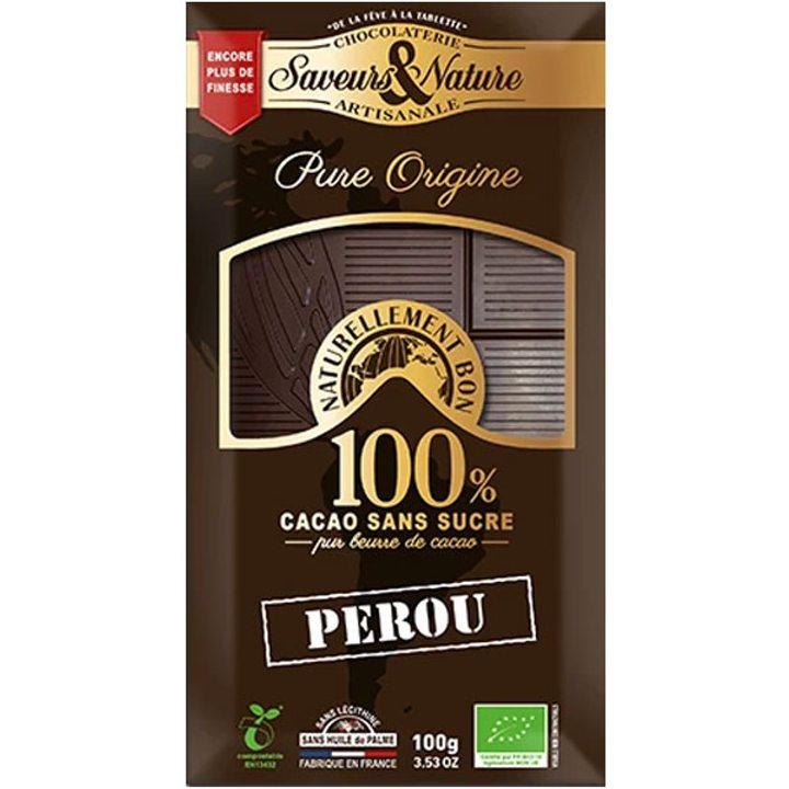 Био какаова маса 100% какао от Перу 100г