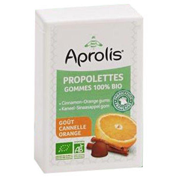 Био бонбони за смучене от прополис с канела и портокал 50г