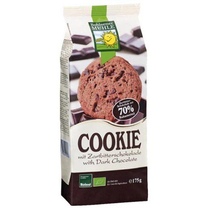 Био бисквити с черен шоколад 175г