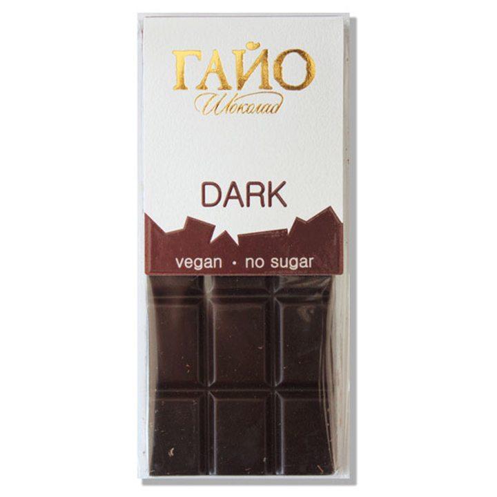 Натурален веган шоколад 82% без захар 40г ГАЙО