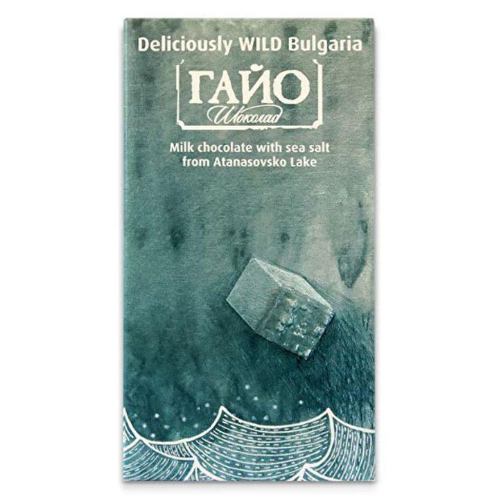 Млечен шоколад със сол от Атанасовското езеро 80г ГАЙО