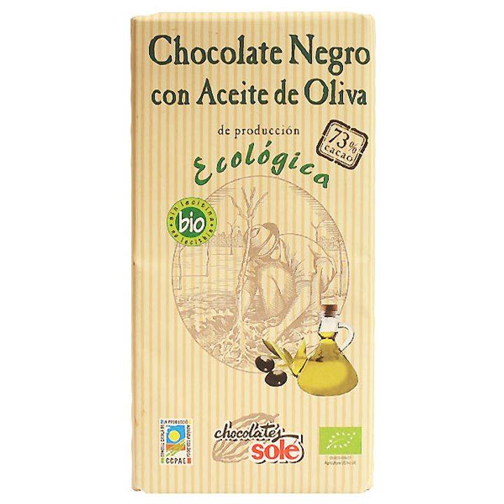 Био черен шоколад със зехтин 100г