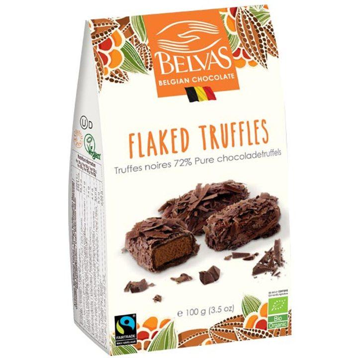 Био трюфели с черен шоколад 72% 100г