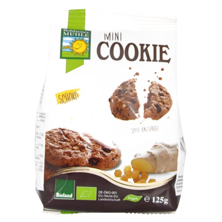 Био бисквити с шоколад и джинджифил 125г