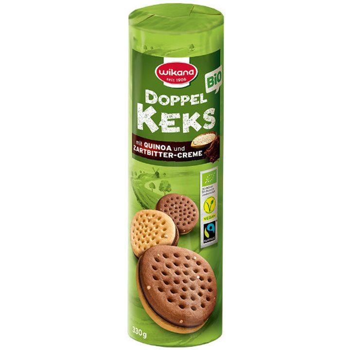Био бисквити с какаов крем и киноа 330г