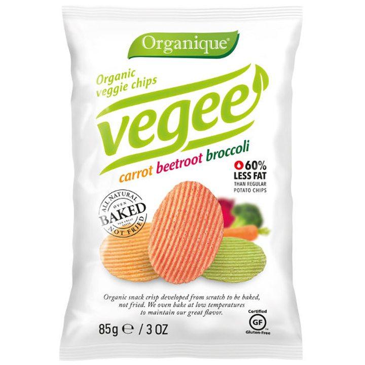 Био печен картофен снакс зеленчуков 85г