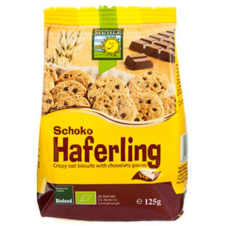 Био овесени бисквити с шоколадови парченца 125г