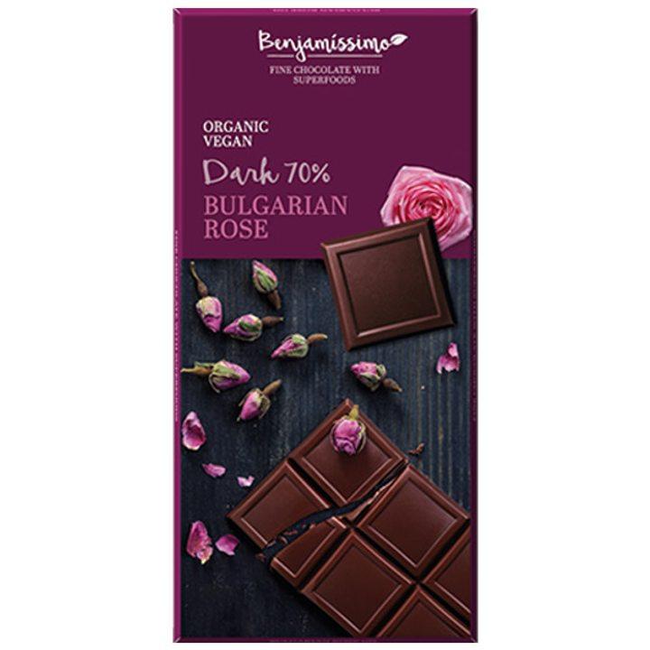 Био шоколад българска роза 70г