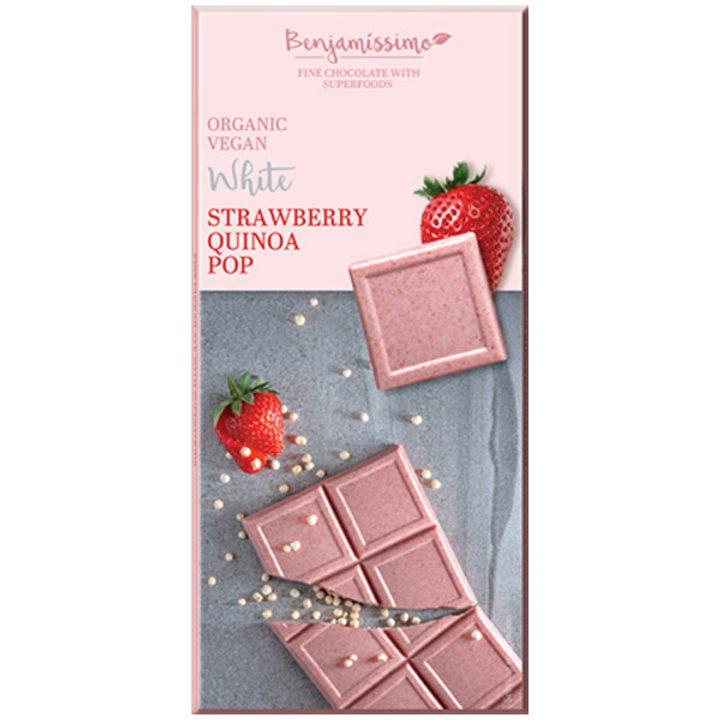 Био шоколад ягода и киноа 70г