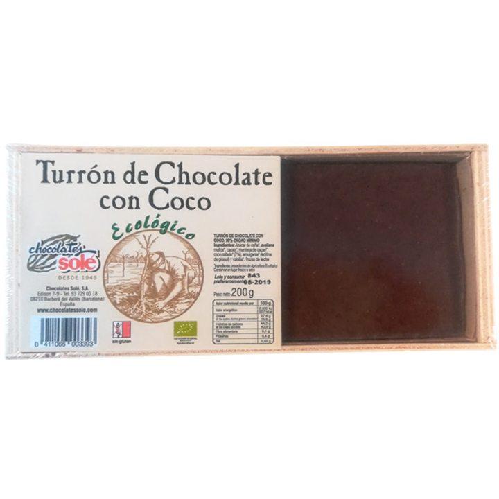 Био шоколад с кокос, Турон 200г
