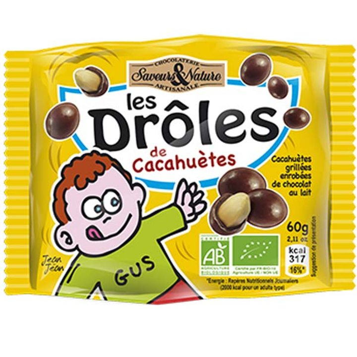 Био фъстъци в млечен шоколад 60г