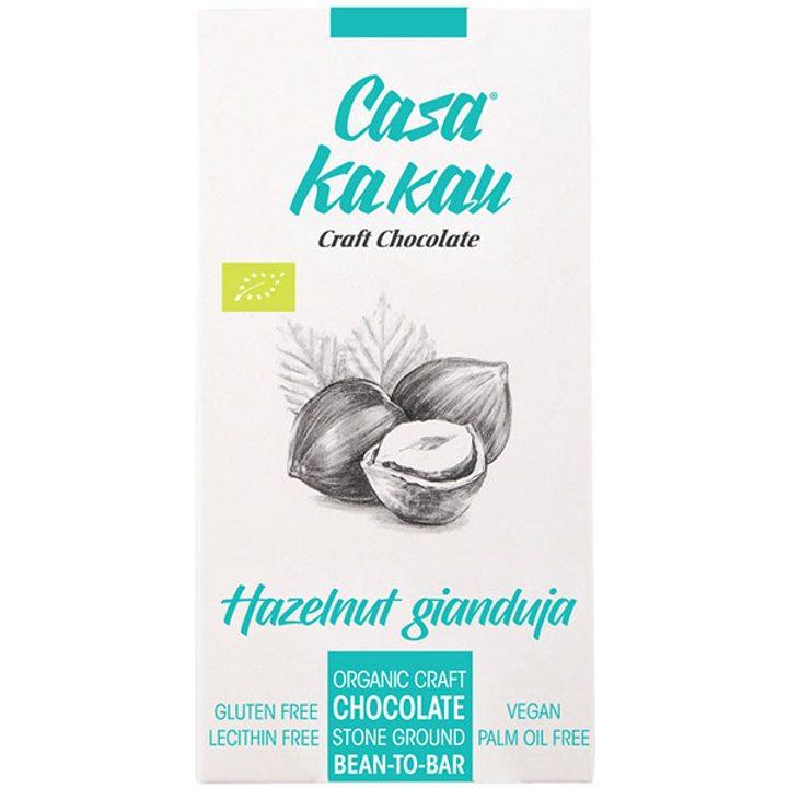 Био занаятчийски шоколад с лешников крем 70г