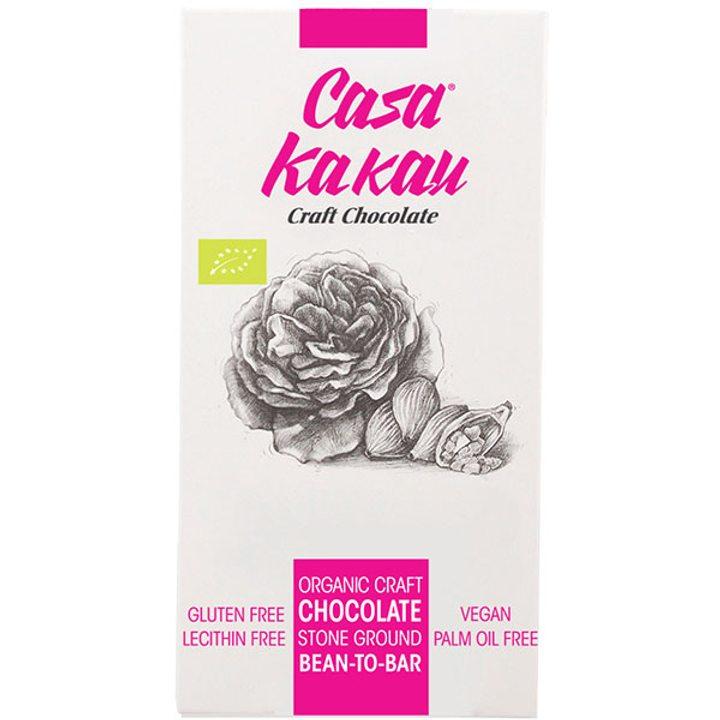 Био занаятчийски шоколад розова вода 70г