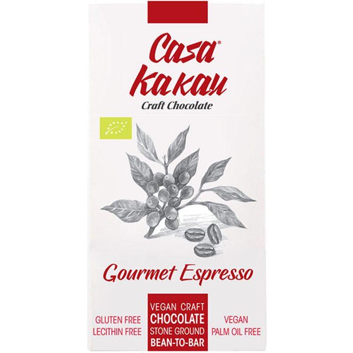Био занаятчийски шоколад гурме еспресо 70г