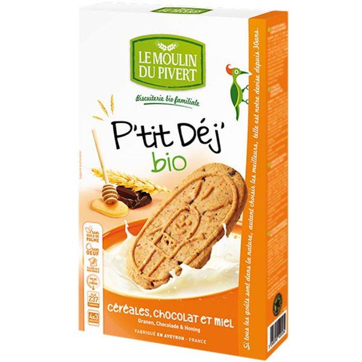 Био бисквити със зърнени култури, мед и шоколад 190г