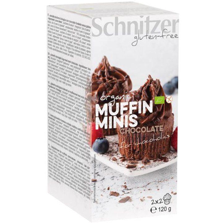 Био мини мъфини с шоколад без глутен 120г