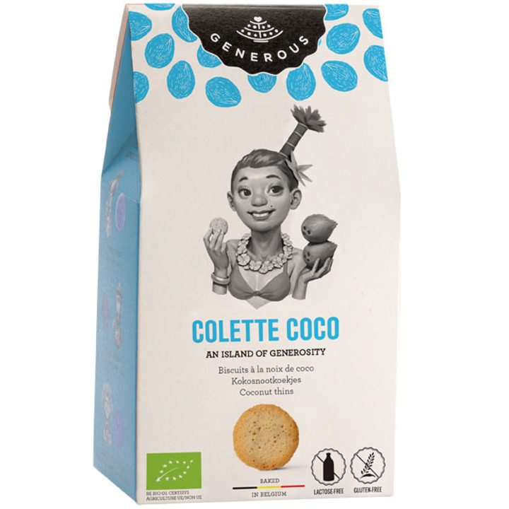 Био бисквити кокос без глутен 100г