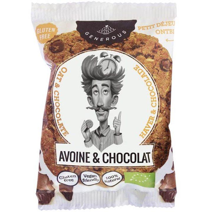 Био бисквита овесена с шоколад без глутен 30г