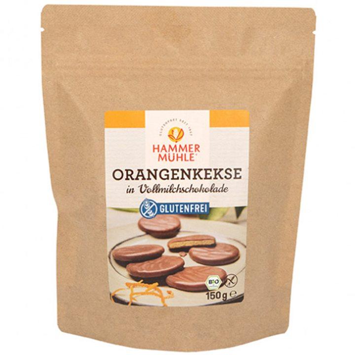 Био портокалови бисквити с млечен шоколад без глутен 150г