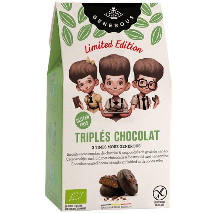 Био бисквити троен шоколад без глутен 120г