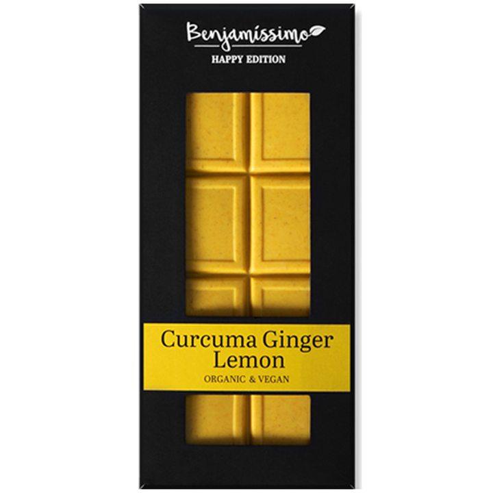 Био шоколад куркума, джинджифил, лимон Happy Edition 60г