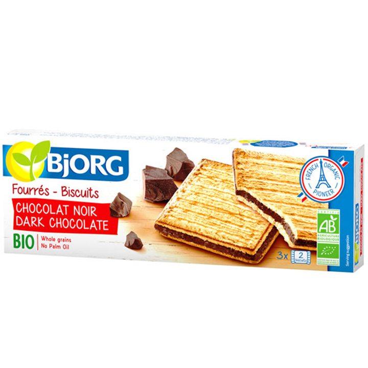 Био бисквити с пълнеж черен шоколад 150г