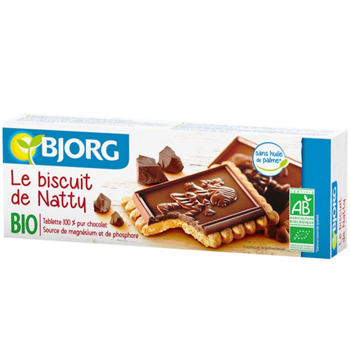 Био бисквити с черен шоколад 150г