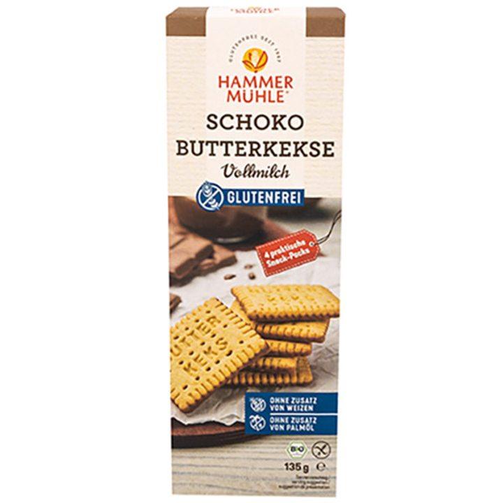 Био бисквити с масло и млечен шоколад без глутен 135г