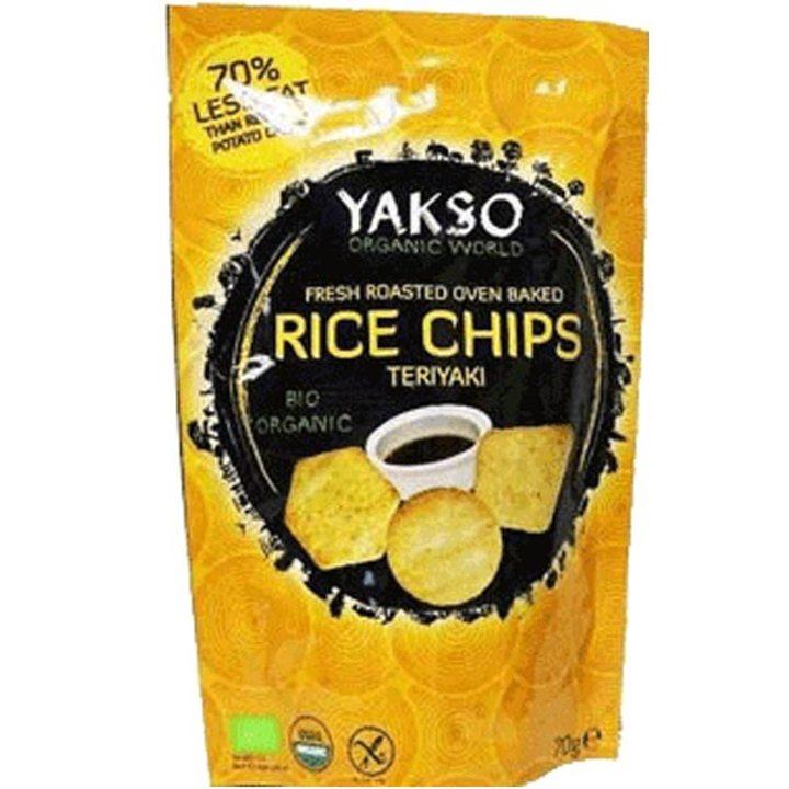 Био чипс оризов терияки 70г