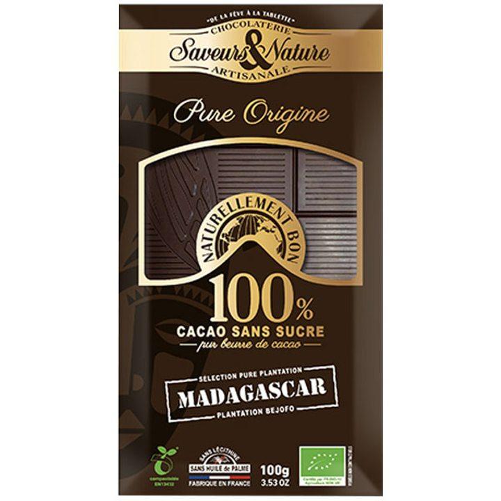 Био какаова маса 100% какао от Мадагаскар 100г