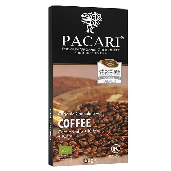 Био шоколад 60% какао с кафе 50г