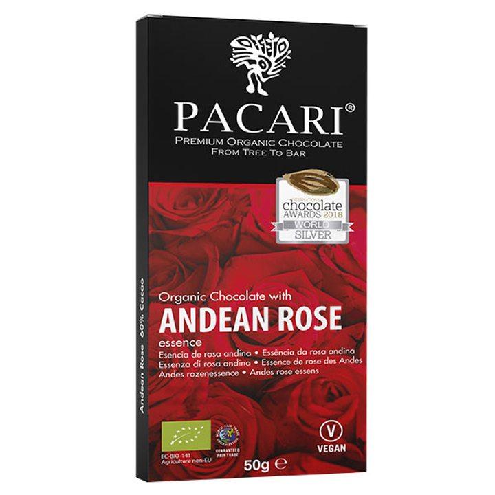 Био шоколад 60% какао с аромат на роза 50г