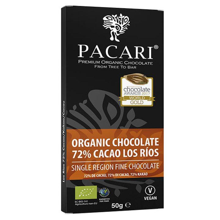Био шоколад 72% какао Лос Риос 50г