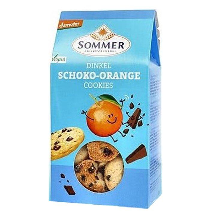 Деметер бисквити спелтови с черен шоколад и портокалово масло 150г