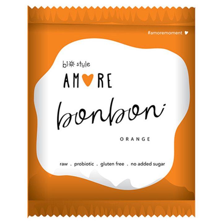 Био аморе бонбон портокал 40г
