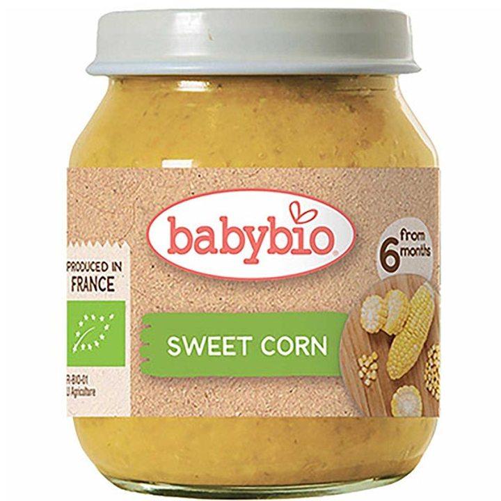 Био зеленчуково пюре сладка царевица 130г
