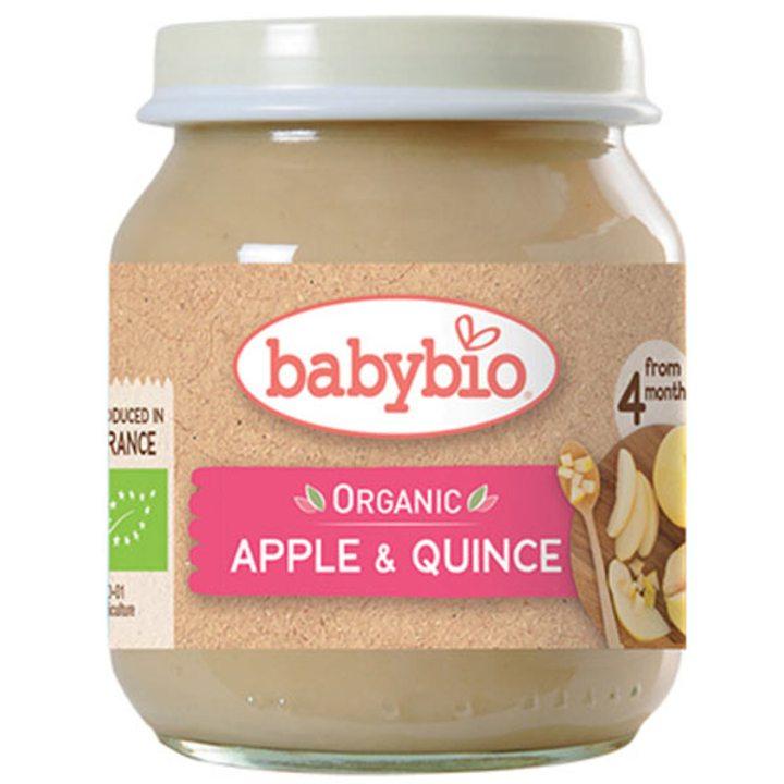 Био плодово пюре ябълки и дюли 130г