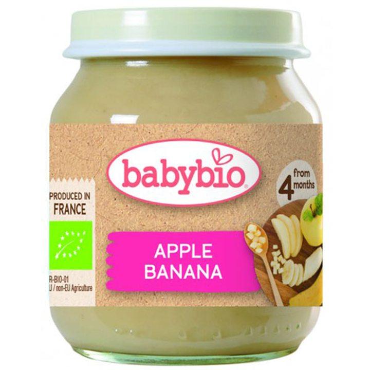 Био пюре плодово ябълка и банан 130г