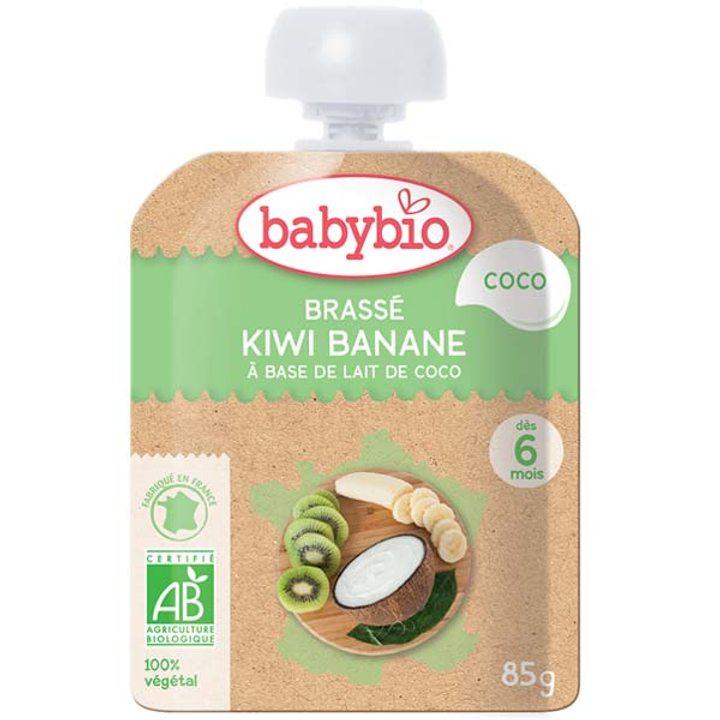 Био плодов йогурт с киви, банан и кокосово мляко 85г