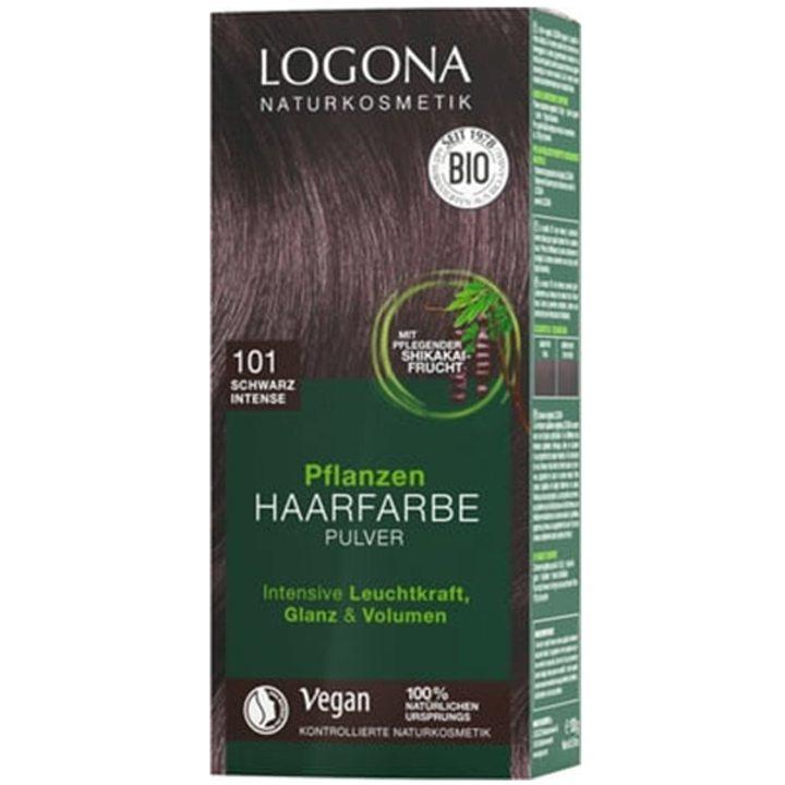 Органична растителна боя за коса 101 - наситено черно 100г