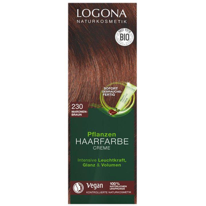 Био растителна крем боя за коса кестеняво кафяво Тик 150мл