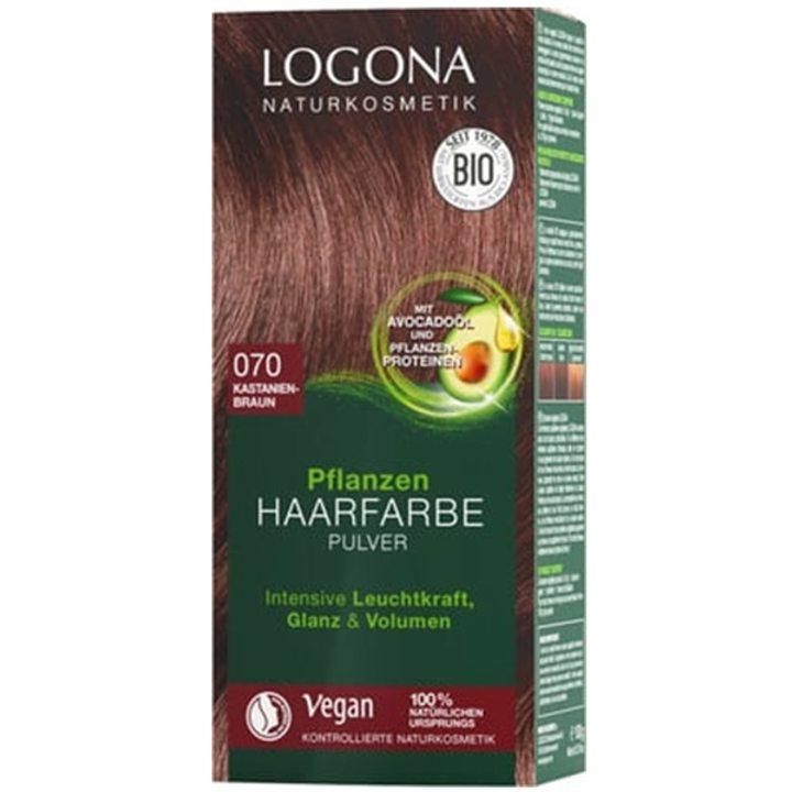 Био растителна боя за коса 070 - кестен кафяво 100г