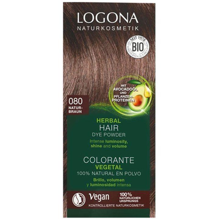 Био растителна боя за коса естествено кафяво 100г