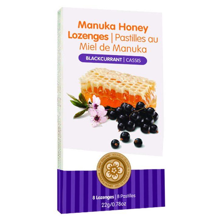 Таблетки за смучене с мед от манука и касис 22г