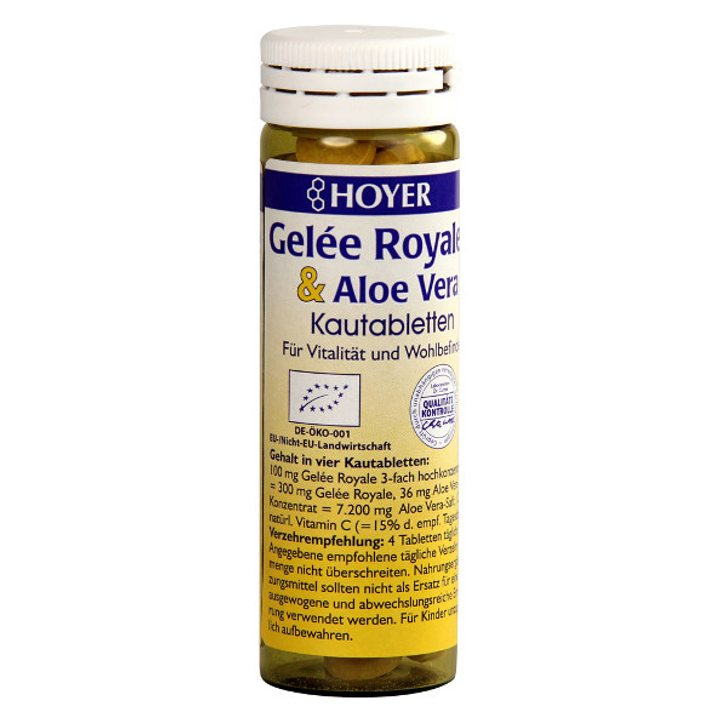 Био таблетки за смучене с пчелно млечице и алое вера 60 бр.