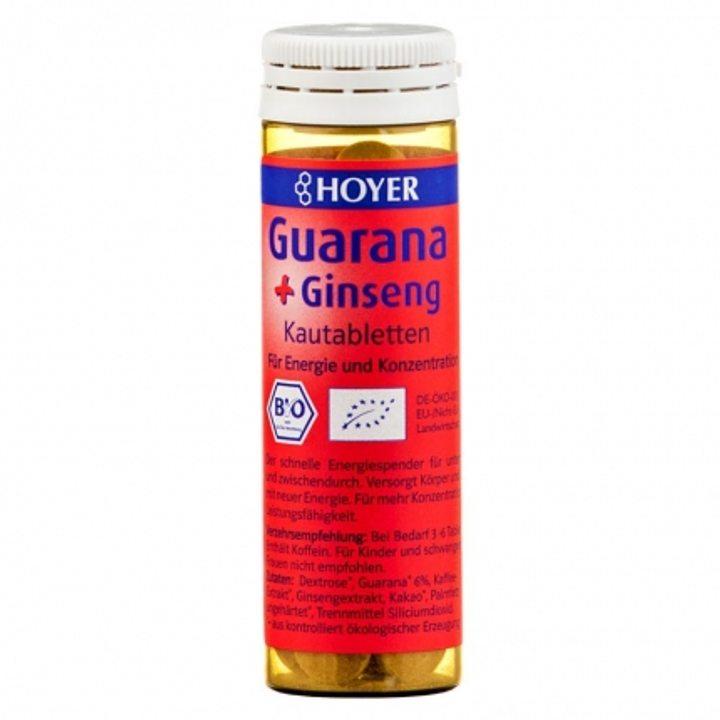 Био таблетки за дъвчене с гуарана и женшен 60 бр.