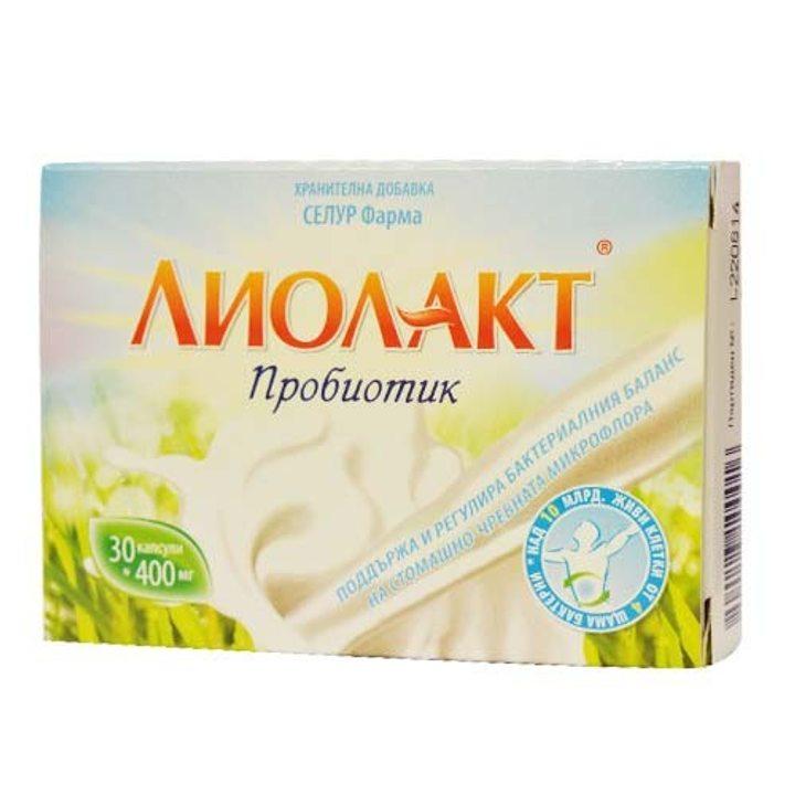 Пробиотик Лиолакт 30 капсули x 400 мг