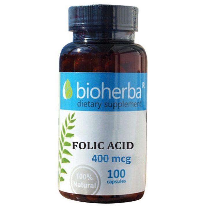Фолиева киселина 100 капсули x 400мг