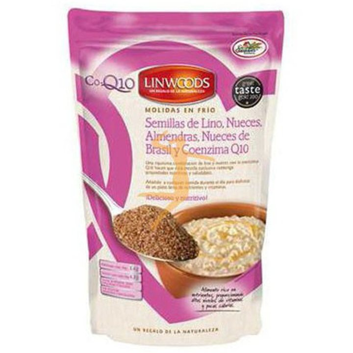 Микс от студено смляно ленено семе, бадем, бразилски орех, орех и коензим Q10 - 200г